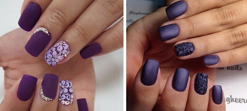 Фото дизайн ногтей с матовым покрытием