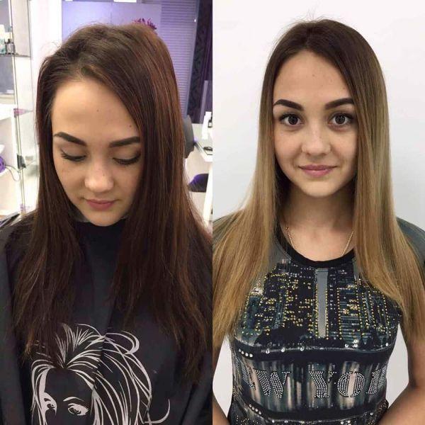 Окрашивание волос в студии