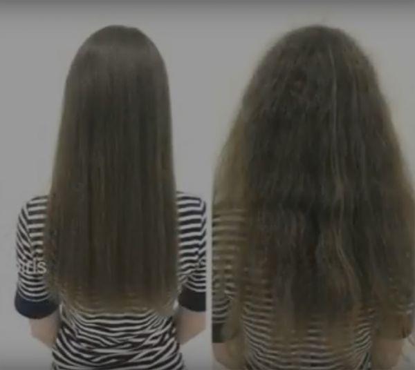 Выпрямление волос в салоне красоты 9