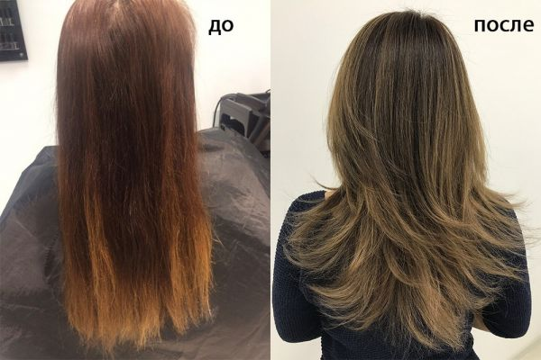 Стрижка на средние волосы и окрашивание
