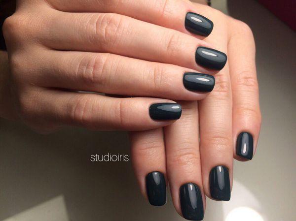 Черный кошачий глаз ногти