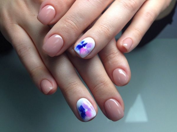 Цветы дизайн ногти