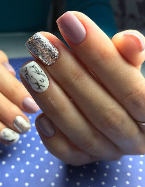 Мрамор дизайн ногтей