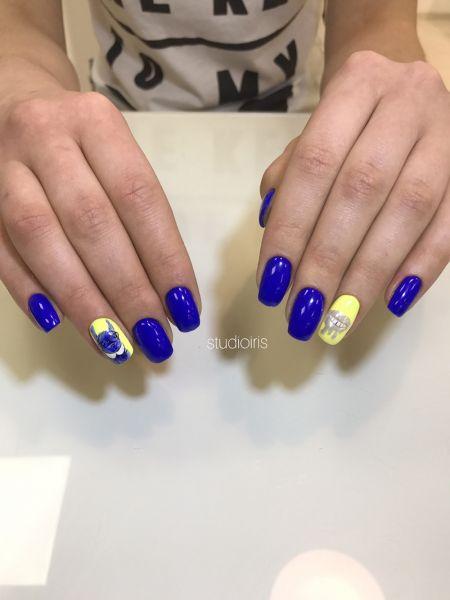 Дизайн белочка на ногтях маникюр