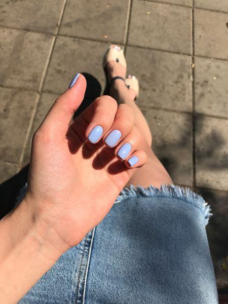 Голубой повседневный