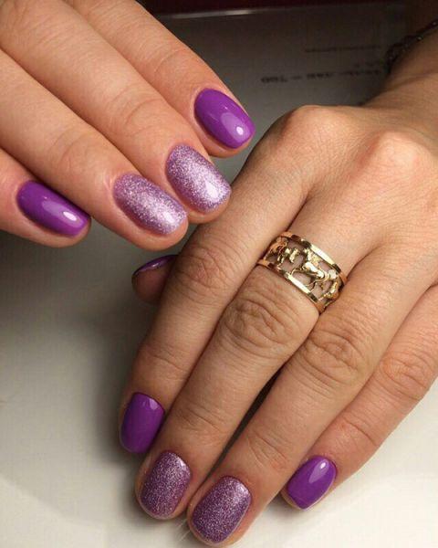Фиолетовый блестки