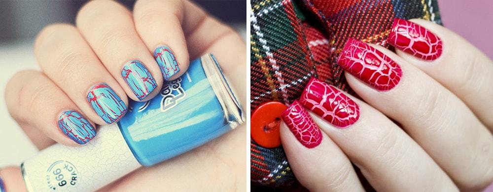 Кракелюр дизайн ногтей фото